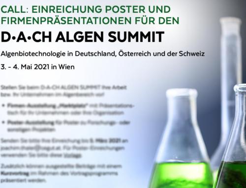 Neuer Termin: Algen Summit 11.-12. Oktober 2021 in Wien